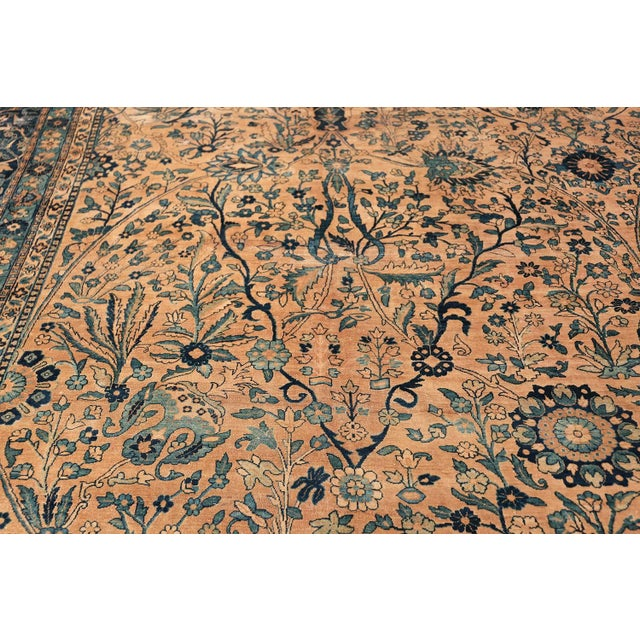 Antique Persian Kerman Oversized Vase Design Carpet - 13′6″ × 25′5″ For Sale - Image 9 of 13