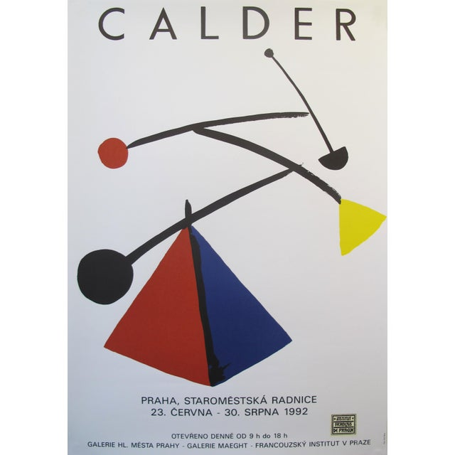 Date: 1992 Size: 17.5 x 26 inches Artist: Calder, Alexander About the poster: This poster is for the 1992 exhibition...