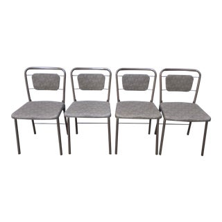 """Antique Hamilton Cosco """"Fashionfold"""" Folding Chairs - Set of 4 For Sale"""