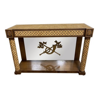 Italian Adolfo Genovese Carpeted Console Table For Sale