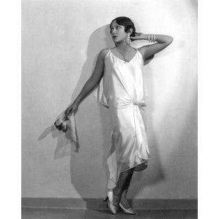 1930 Gloria Swanson in Satin Dress (16x20 Canvas) For Sale