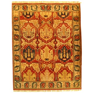 """Pasargad N Y Agra Hand-Knotted Rug - 8' X 10'1"""" For Sale"""