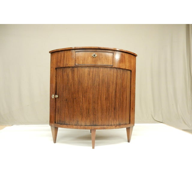 Wood Louis XVI Walnut Corner Cabinet For Sale - Image 7 of 7