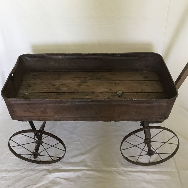 Early 1900s Childs Metal Wood Wagon