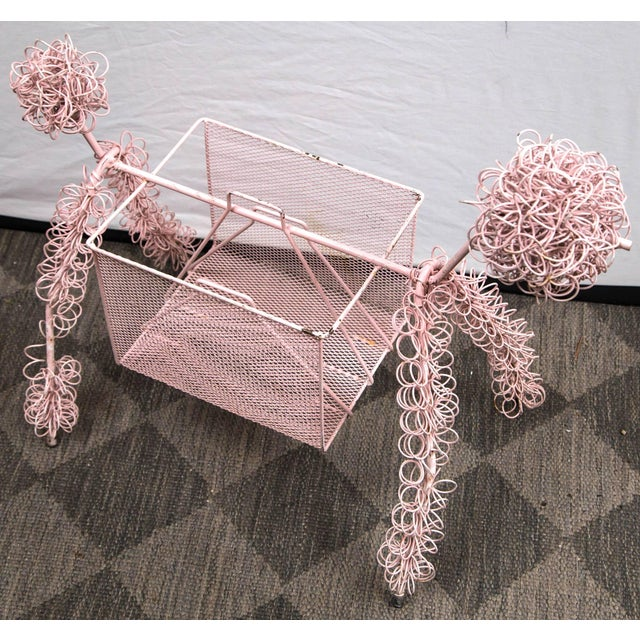 Frederick Weinberg pink poodle metal wire magazine Stand. Darling!