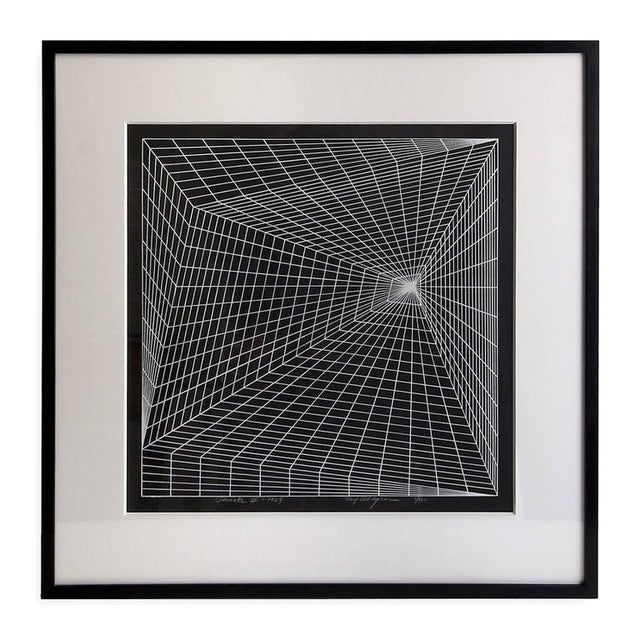 Artist: Roy Ahlgren, American, (1927-2011). Title: Lineate II. Year: 1969. Medium: Silkscreen on Japon paper, signed and...