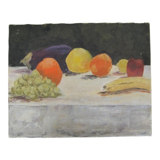 Vintage Still Life Painting of Fruit