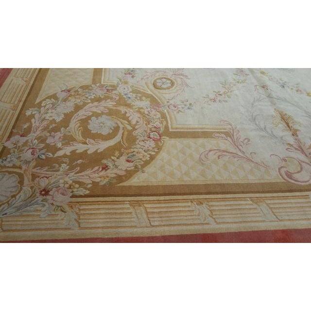 14'x19' Aubusson Design Hand Made Knotted Rug - Size Cat. 12x18 13x20 - Image 9 of 12