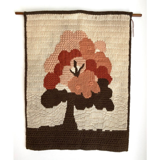 Textile Vintage Danish Woven Textile Wall Hanging For Sale - Image 7 of 7