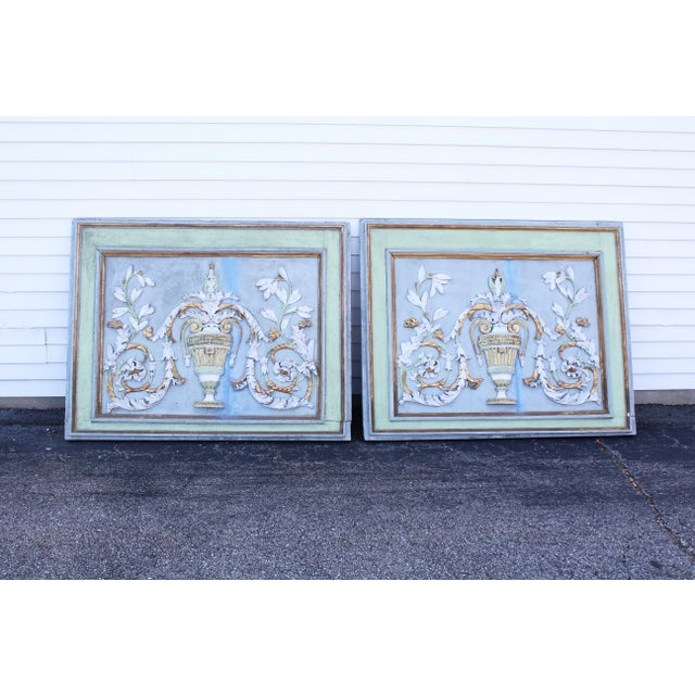 Late 18th Century Swedish Neoclassic Gustavian Wall Panels- A Pair For Sale - Image 12 of 12