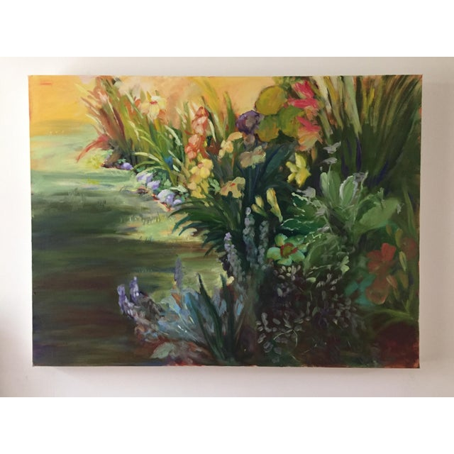 """Canvas """"Garden Flowers"""" Botanical Still Life Oil Painting by Marina Movshina For Sale - Image 7 of 7"""