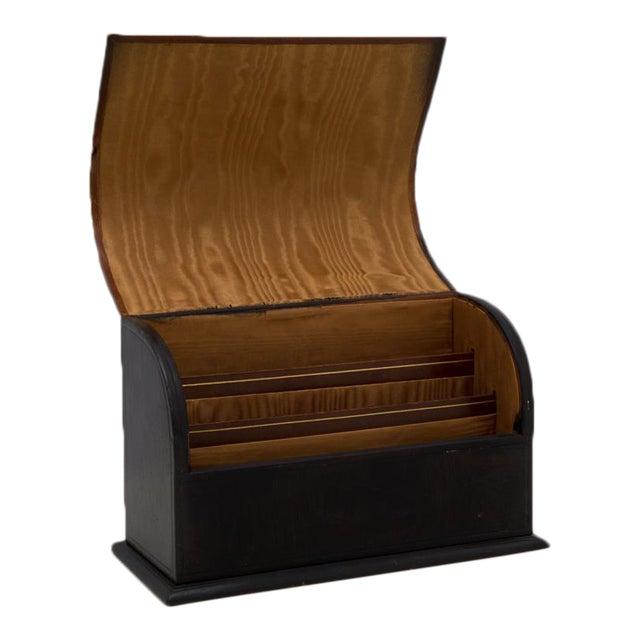 Antique Leather Desk Stationery Letter Organizer For Sale