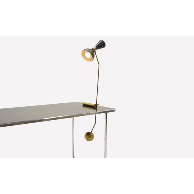 Italian Adjustable Brass Table Lamp With Counter Balance by Stilnovo For Sale - Image 3 of 9
