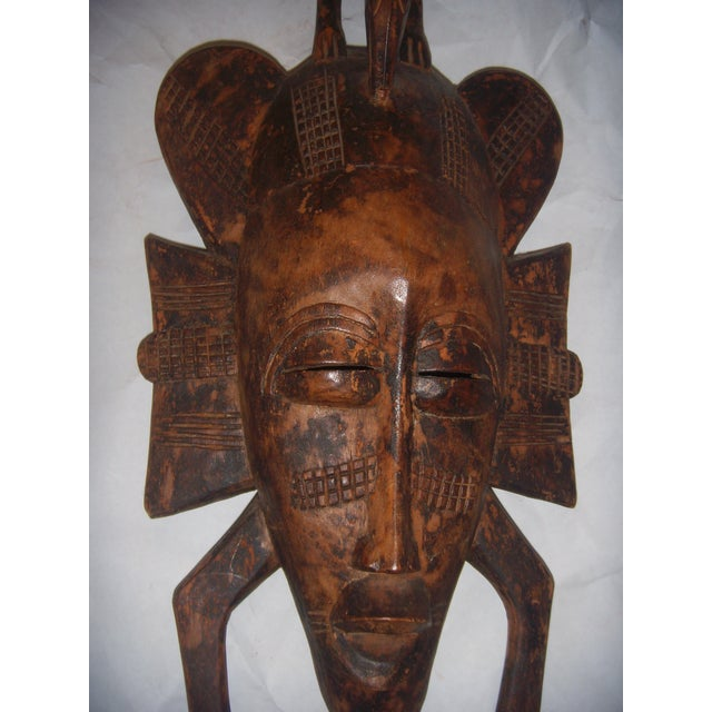 Carved African Tribal Mask For Sale - Image 10 of 11