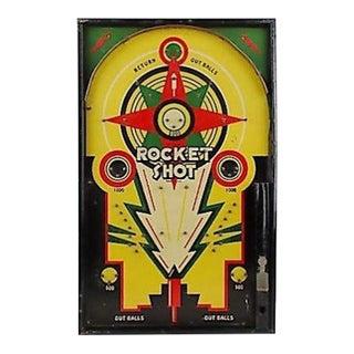 """1930s Lindstrom Graphic """"Rocket Shot"""" Bagatelle Game"""