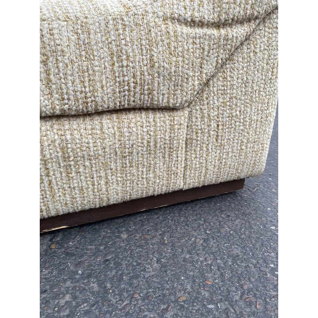 Vintage Deep Biscuit Tommy Tufted Lounge Chair and Ottoman For Sale - Image 9 of 13