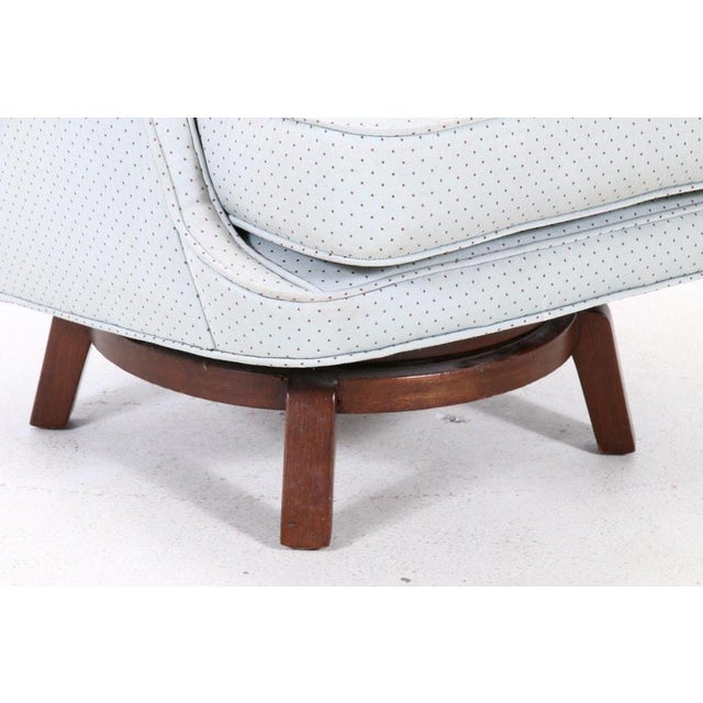 Dunbar Furniture 1960's Vintage Edward Wormley for Dunbar Swivel Chair For Sale - Image 4 of 11