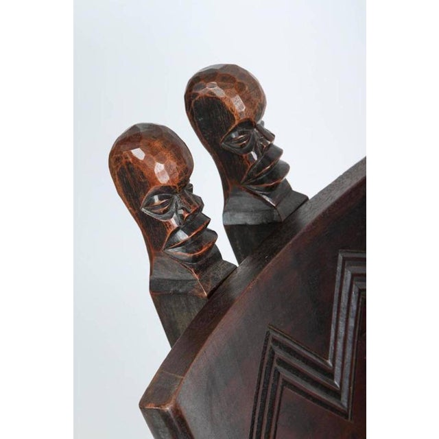 Wood African Tribal Baluba Chief's Chair From Katanga For Sale - Image 7 of 8