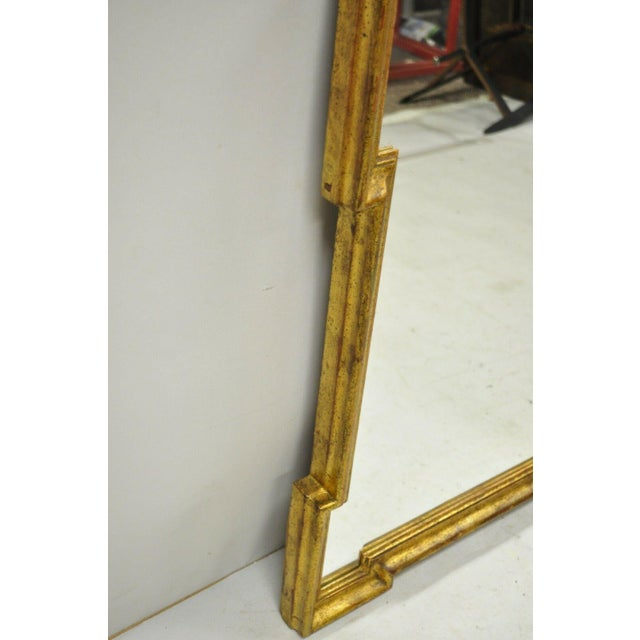 Italian Gold Giltwood Hollywood Regency Scroll Wall Console Mirror Kent Coffey For Sale - Image 9 of 11