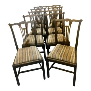 18th Century Vintage Dining Chairs- Set of 10 For Sale