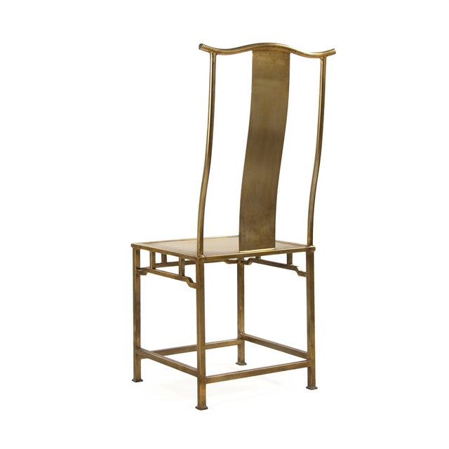 Modern Goerge Side Chair in Gold For Sale - Image 3 of 5
