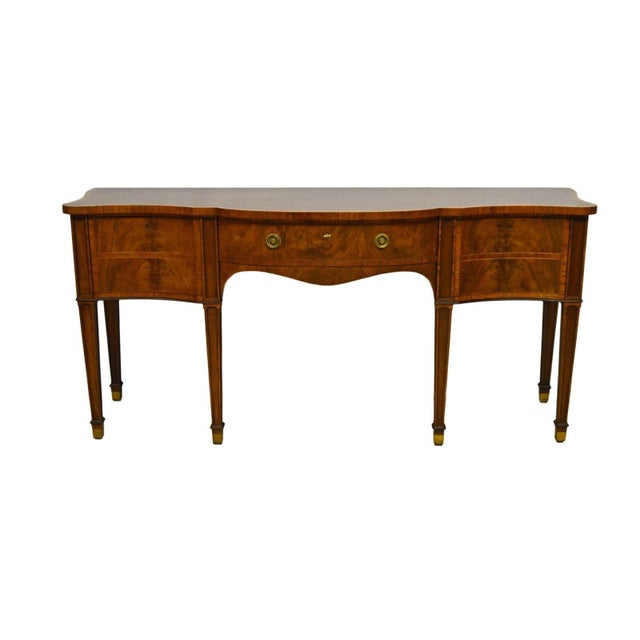 Baker Furniture Stately Homes Collection Mahogany Inlaid Sideboard For Sale - Image 11 of 11