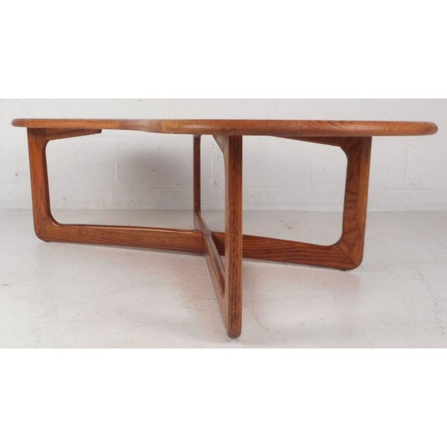 Mid-Century Modern Kidney Shaped Coffee Table by Lane Furniture - Image 4 of 9