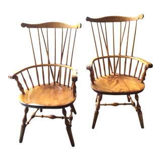 Post 1950s Colonial Windsor Chairs - A Pair