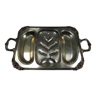 1940s Vintage Large Serving Tray For Sale