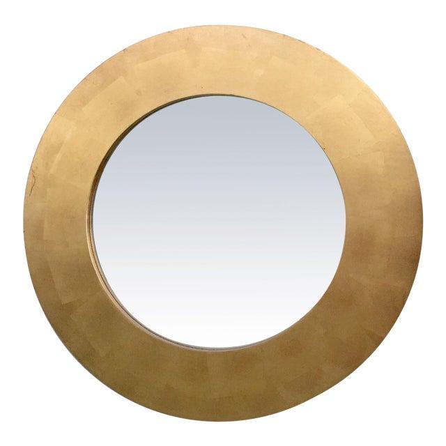 Round Gold Leaf Framed Mirror - Image 1 of 5