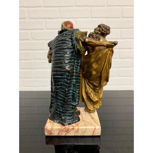 Cold Painted Orientalist Vienna Bronze by Franz Bergman For Sale - Image 4 of 9