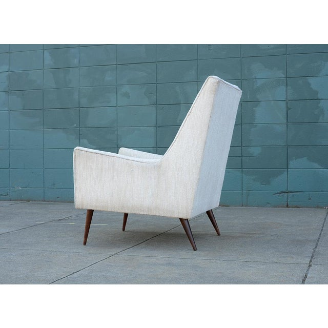 1950s Mid Century Modern Upholstered Lounge Chair For Sale - Image 4 of 11