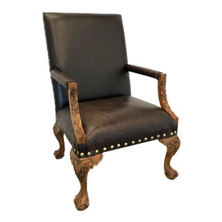 Sam Moore Leather Library Chair