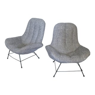 1950s Italian Lounge Chairs- A Pair For Sale