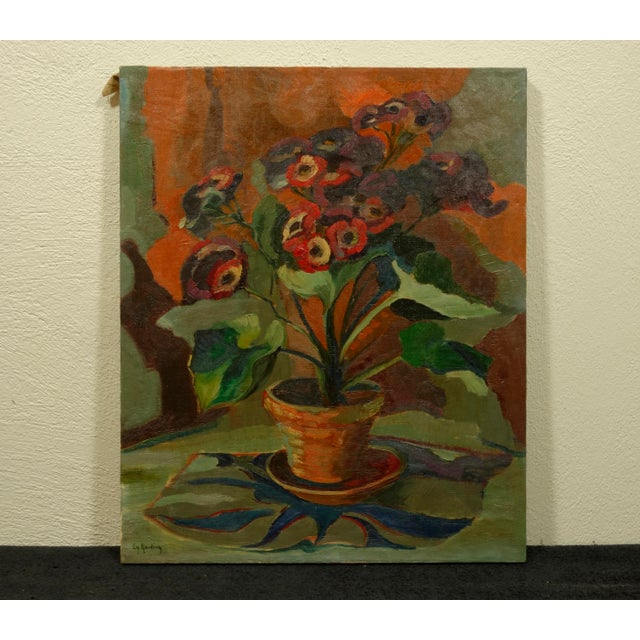 Circa 1940s Vintage American Modernist Still Life Painting - Image 2 of 7