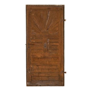Antique Vintage Barn Door With Starburst Pattern For Sale