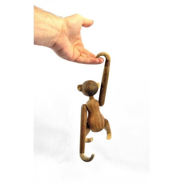 Vintage Carved Wooden Hanging Monkey - Image 5 of 10