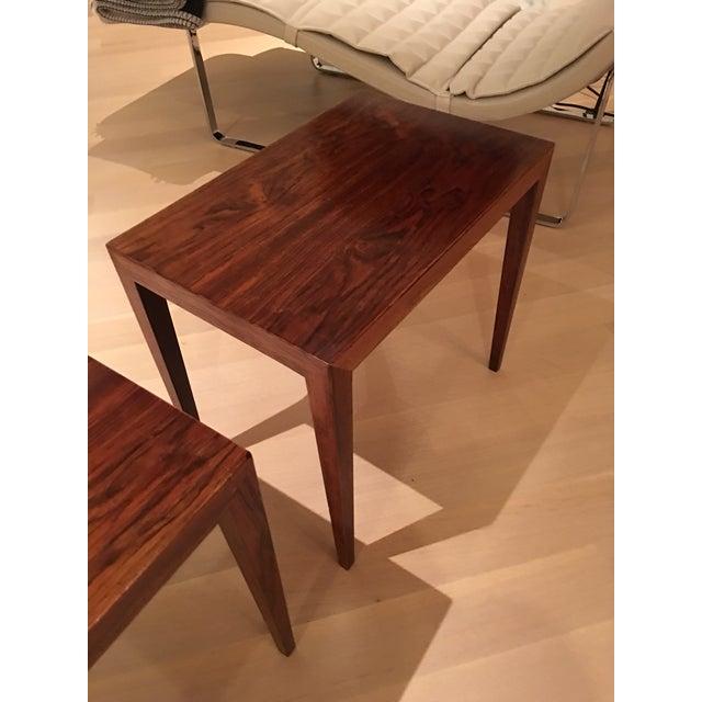 Vintage Danish Midcentury Rosewood Side Tables - 2 - Image 3 of 5