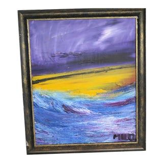 Abstract Ocean at Sunset Signed: Milo For Sale