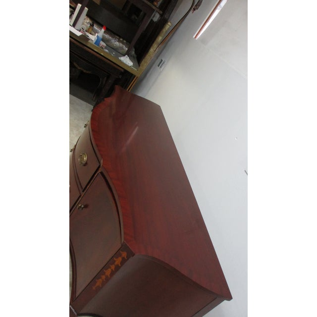 1990s Mahogany Federal Banded Sideboard For Sale - Image 4 of 13