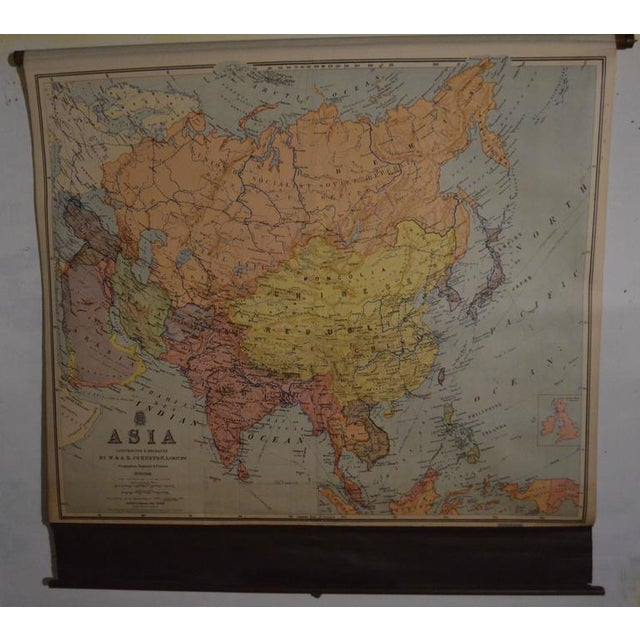 Vintage Map of Asia - Image 2 of 8