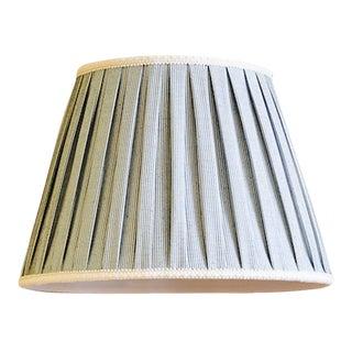 Custom Blue Stripe Pleated Lamp Shade For Sale