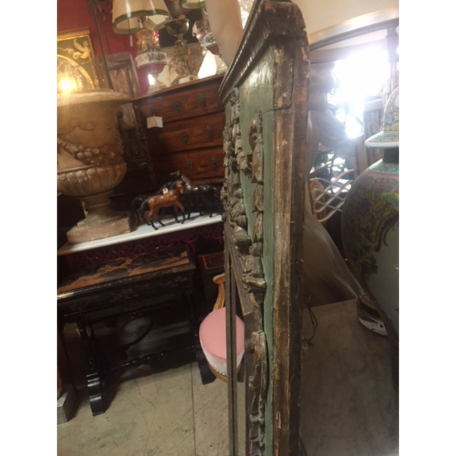 Green Late 18th Century Italian Green & Gold Mirror For Sale - Image 8 of 12