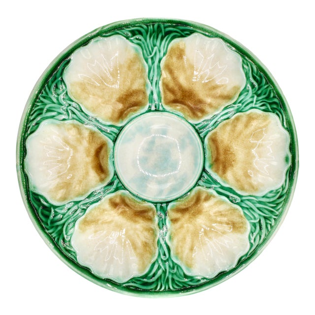 Art Deco French Ceramic Oyster Plate For Sale