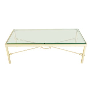 Shabby Chic Metal and Glass Top Coffee Table