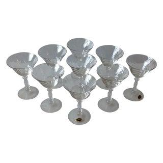 Cambridge Optic Crystal Cocktail Stemware For Sale