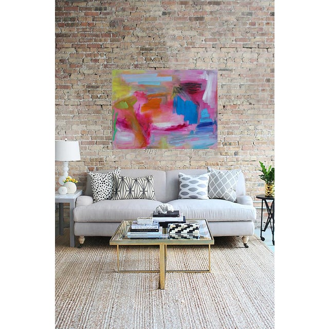"""Canvas Large Abstract Oil Painting by Trixie Pitts """"Florida Feeling"""" For Sale - Image 7 of 10"""