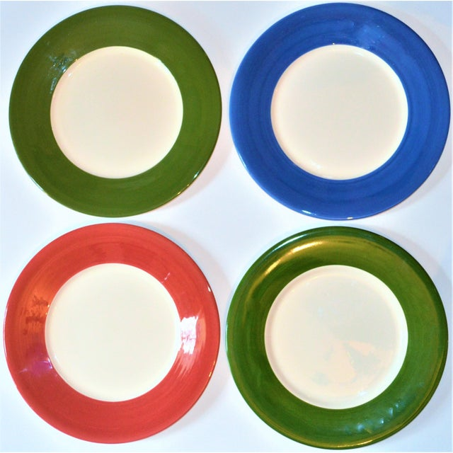 Vintage French Gien Chop House Charger Plates - Set of 4 For Sale In Houston - Image 6 of 7