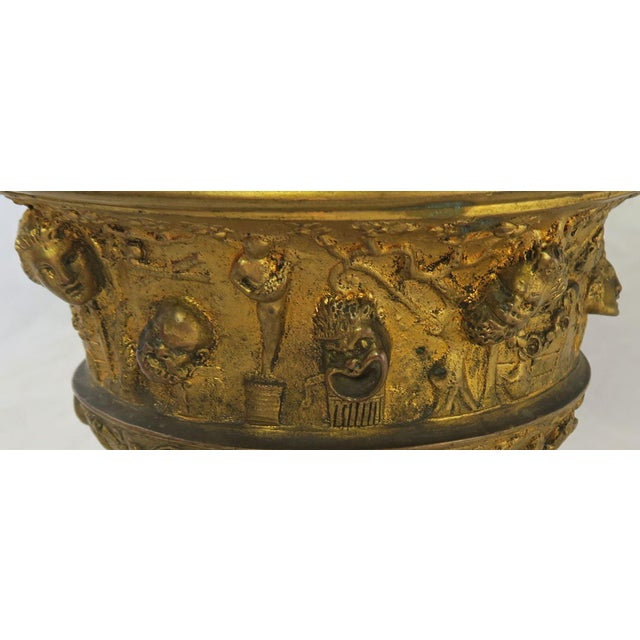 Green 19th C. Bronze Tazza on Marble Base For Sale - Image 8 of 13