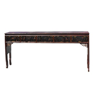 "Antique Chinsee Narrow Long Console Table - 82"" For Sale"